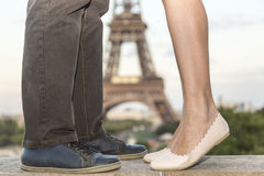 Love in Paris Stock Image