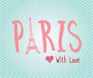 Love Paris Stock Photography