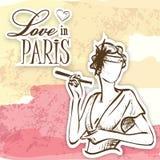 Love in paris mademoiselle Stock Image