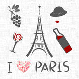 Love in Paris vector illustration. Stock Photography