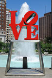 Love Park. The popular Love Park aptly named after the Love Statue Philadelphia, Pennsylvania Stock Photography