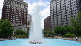 LOVE Park Fountain in Philadelphia Stock Photos
