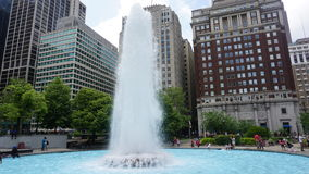 LOVE Park Fountain in Philadelphia. Pennsylvania Stock Photography