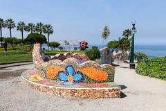 Love park in Miraflores Lima Stock Photo