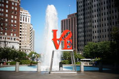 Love park. The popular Love Park Philadelphia Stock Image