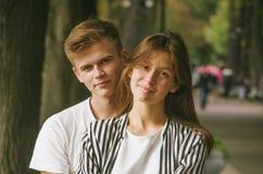 Love at park Royalty Free Stock Image