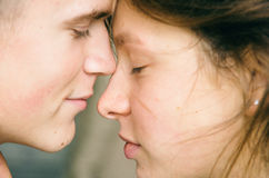 Love at park Royalty Free Stock Photography