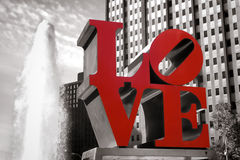 Love Park and Fountain in Philadelphia PA  Stock Photo