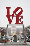 Love. Park and statue in Philadelphia Pennsylvania a big tourist attraction in the city Stock Photography