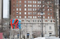 Love. Park and statue in Philadelphia Pennsylvania a big tourist attraction in the city Royalty Free Stock Photography