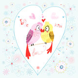 Love parrots Royalty Free Stock Images