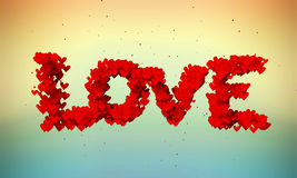Love Particles 3D butterfly color background. Digital art Royalty Free Stock Photography