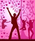 Love Party Placard Stock Photos