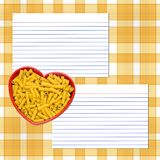 Love Pasta Recipe Royalty Free Stock Image