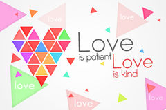 Love is Patient Love is Kind. White background Stock Images