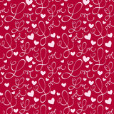 Love pattern. Calligraphic background with love hand lettering Royalty Free Stock Photos