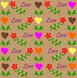 Love pattern stock illustration