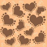 Love pattern background. Love pattern with lively line to form the love , suitable for candy wrapping paper Stock Photos