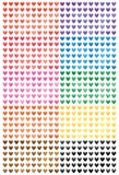 Love pattern cut colorful set. This illustration is design love pattern cut with colorful in isolated set on white color background Stock Photography