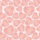 Love pattern with hearts in vintage style. Stock Photo