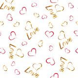 Love pattern 1 Royalty Free Stock Photography