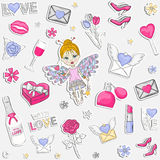 With Love pattern Stock Photography