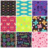 Love patterns Royalty Free Stock Photography