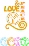 Love & peace Royalty Free Stock Images