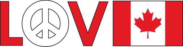 Love Peace Canada Stock Image