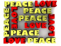 Love and Peace 3D Lettering Stock Photography