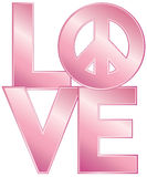 LOVE = Peace Royalty Free Stock Photography