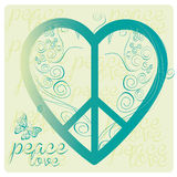 Love peace symbol Royalty Free Stock Image