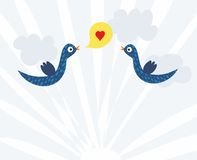 Love and Peace to the Earth in vector Royalty Free Stock Images