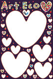 Love pen drawing art card Royalty Free Stock Image