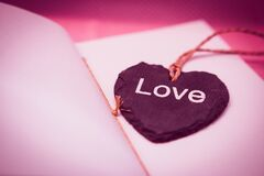 Love Pendant Necklace Stock Images