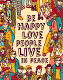 Love people positive emotion poster Royalty Free Stock Photography