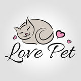 Love Pet Logo Royalty Free Stock Photography