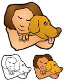 Love between pet and person Royalty Free Stock Photography