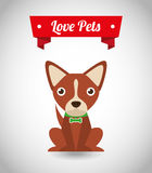 Love pets royalty free illustration