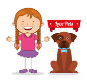 Love pets. Design, vector illustration eps10 graphic vector illustration
