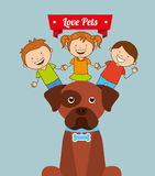 Love pets. Design, vector illustration graphic royalty free illustration