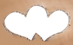 Love photo frame made of cardboard Stock Photography