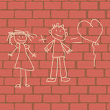 Love picture on the wall Stock Photo