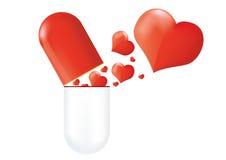 Love pill Royalty Free Stock Photos