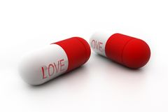 Love pill Stock Photography