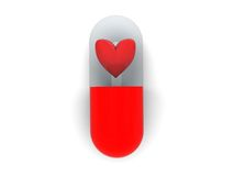 Love pill Royalty Free Stock Image