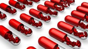 Love pills Stock Photos