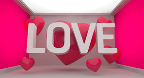 Love Pink Background Stock Photo