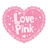 Love Pink Stock Photography