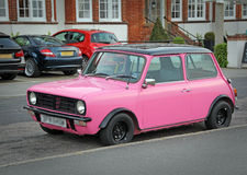Love pink mini car Stock Photos